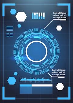 Insieme di grafici di modello astratto sfondo tecnologia futuristica moderna elementi infografica