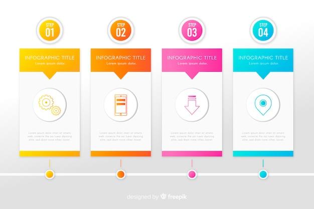 Insieme di infographic di temlate di crescita
