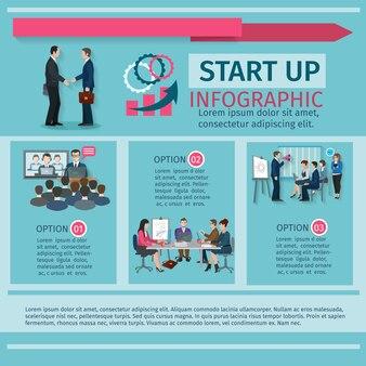 Insieme di infographics di conferenza