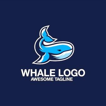 Insieme di ispirazione di ispirazione impressionanti di logo della balena