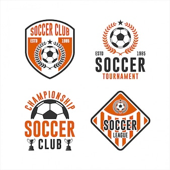 Insieme di logo di campionato del club di calcio