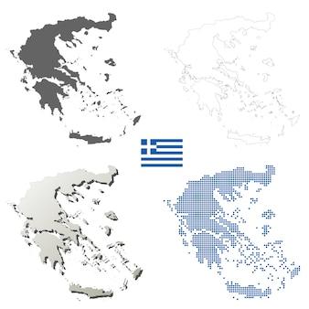 Insieme di mappa muta vettore di grecia