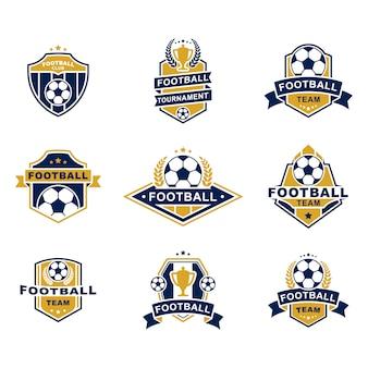 Insieme di modelli degli emblemi della squadra di football americano