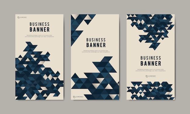 Insieme di modelli di banner astratto di affari