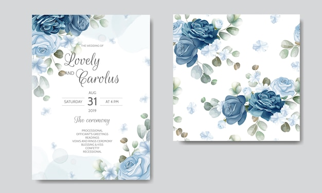 Insieme di modelli di carta invito matrimonio