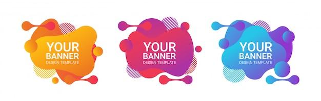 Insieme di modelli di disegno di sfumatura moderna sfumatura banner