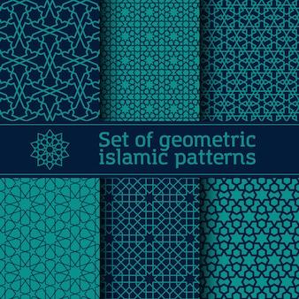 Insieme di modelli islamici di vettore senza soluzione di continuità