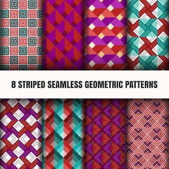 Insieme di motivi geometrici senza soluzione di continuità a strisce