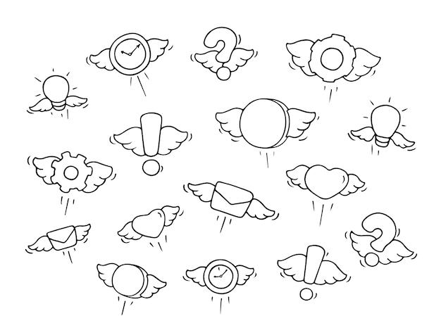 Insieme di oggetti volanti.