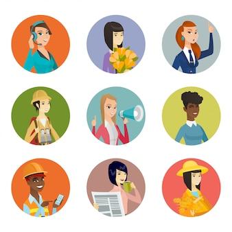 Insieme di personaggi di diverse professioni.