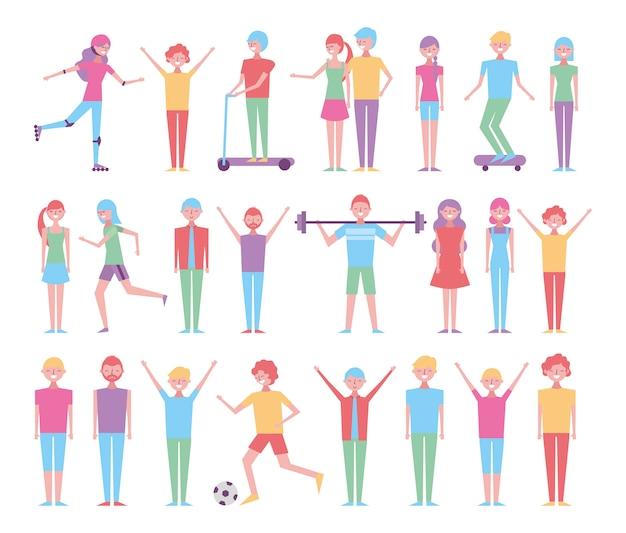 Insieme di persone che svolgono attività ricreative