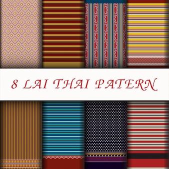 Insieme di picchiettio di stile tailandese di vettore