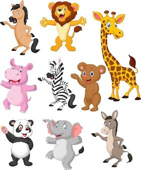 Insieme di raccolta del fumetto di animali selvatici