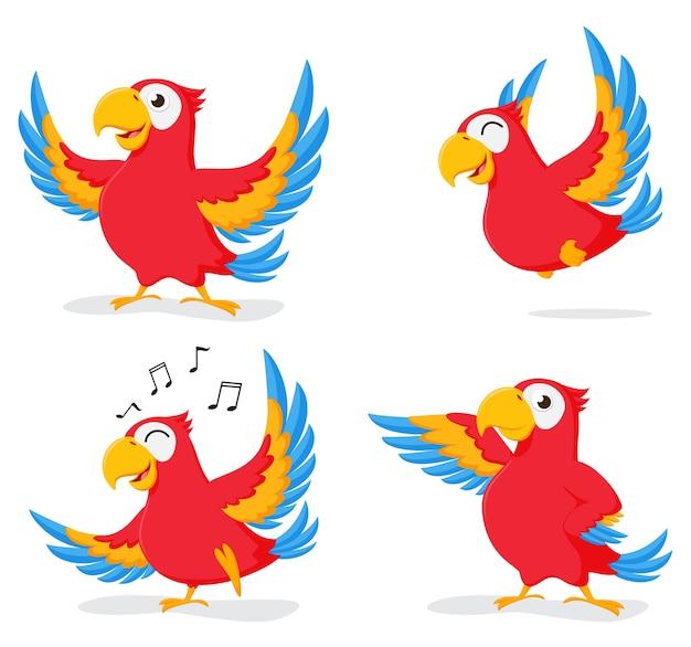 Insieme di raccolta del fumetto simpatico pappagallo