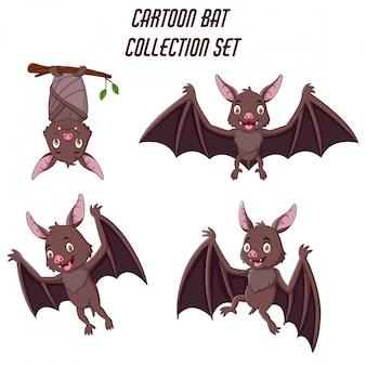 Insieme di raccolta del pipistrello divertente del fumetto