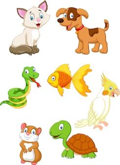 Insieme di raccolta dell'animale domestico del fumetto