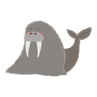 Insieme di stile di disegno dell'illustrazione di fauna selvatica