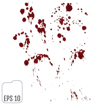 Insieme di vari schizzi di sangue o vernice
