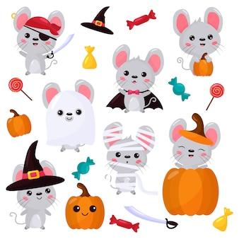 Insieme di vettore dei personaggi del mouse
