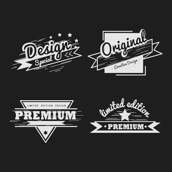 Insieme di vettore di distintivo di qualità premium