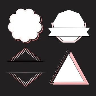 Insieme di vettore di emblemi e distintivi