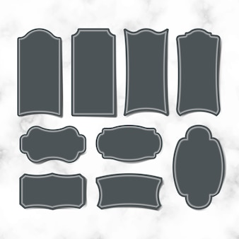 Insieme di vettore di etichette autoadesivo in bianco dell'annata