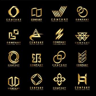 Insieme di vettore di idee di progettazione di logo dell'azienda