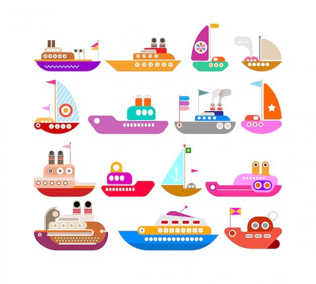 Insieme di vettore di nave