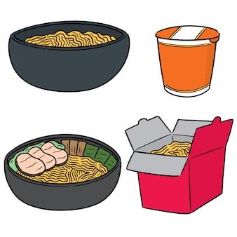 Insieme di vettore di noodle