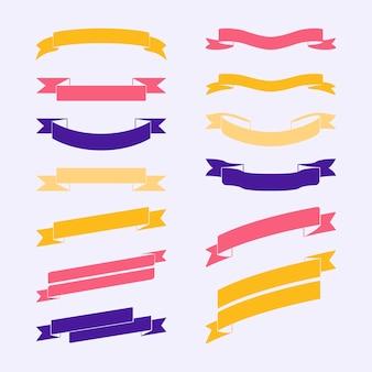 Insieme di vettori di banner colorato