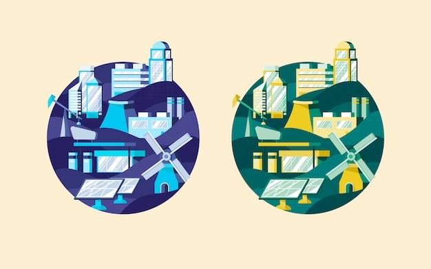 Insieme di vettori di energia alternativa