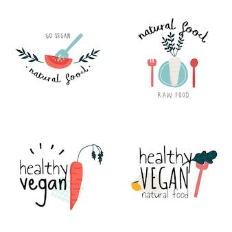Insieme di vettori di vegani sani