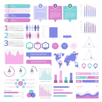 Insieme di vettori infograph business