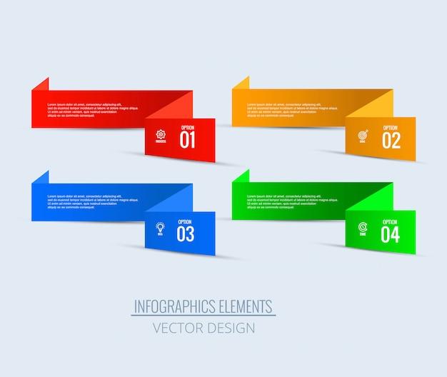 Insieme infographic di affari di progettazione di punti