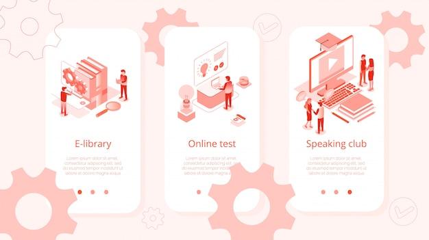 Insieme isometrico del club parlante di prova online di e-library