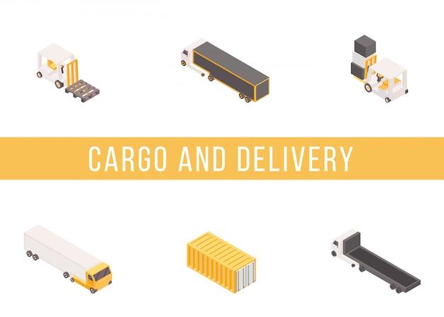 Insieme isometrico di consegna del carico