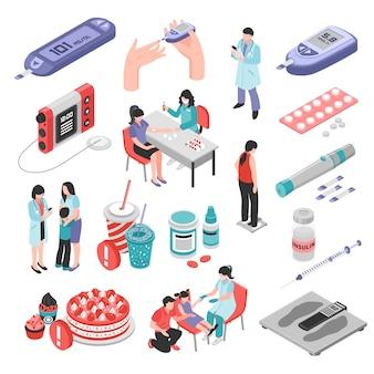 Insieme isometrico di trattamento del diabete