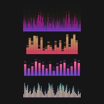 Insieme variopinto di progettazione di vettore dell'equalizzatore dell'onda sonora