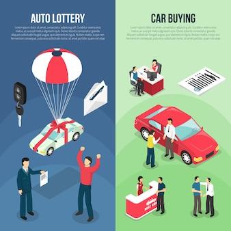 Insieme verticale dell'insegna di leasing del concessionario auto