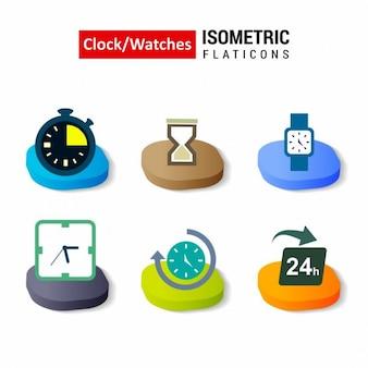 Insieme vettoriale clockwatch evoluzione