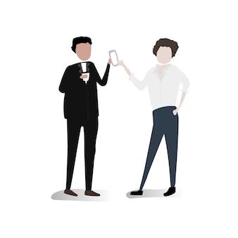 Insieme vettoriale di uomini d'affari