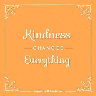Inspirational frase sulla gentilezza in design vintage