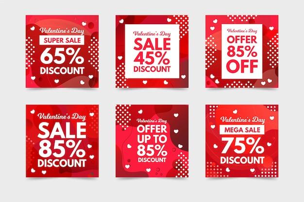 Instagram post collezione di vendita di san valentino