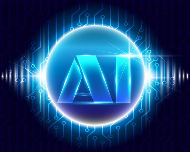 Intelligenza artificiale con tecnologia dei simboli dei circuiti