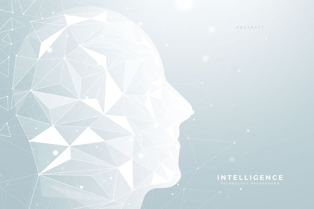 Intelligenza artificiale low poly background