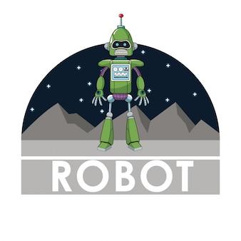 Intelligenza automatizzata tecnologia robot futuristica