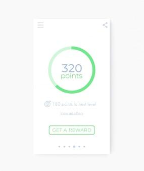 Interfaccia app di ricompensa