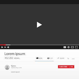 Interfaccia del lettore video