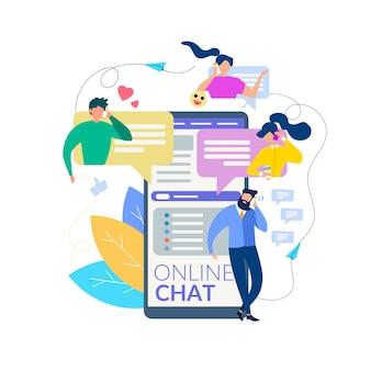 Interfaccia del messaggio del telefono cellulare di conversazione della gente del fumetto