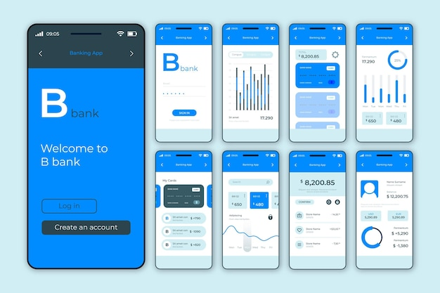 Interfaccia dell'app bancaria